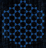 Molécules hexagonales Images libres de droits