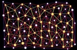 Molécules liant sur l'image illustration de vecteur
