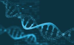 Mol?cula da pesquisa do ADN An?lise do genoma humano da estrutura ilustração stock