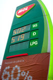 Mol gas prices Royalty Free Stock Photography