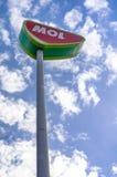 Mol Tankstelle-Zeichen Lizenzfreies Stockfoto