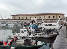Mol Vanvitelliana of Lazzaretto in Ancona, Italië Royalty-vrije Stock Foto