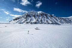 Mola ártica em Spitsbergen sul Imagem de Stock