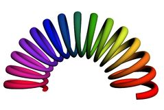 mola 3d alongada colorida Fotos de Stock
