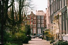 Mola adiantada bonita em Amsterdão, Países Baixos, 2014E Imagens de Stock Royalty Free