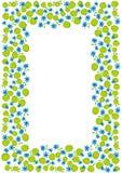 A mola azul e verde floresce a beira do quadro ilustração do vetor