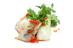 Mola chinesa Rolls (Popia) Foto de Stock