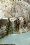 Mola da água térmica de Bagni san Filippo fotos de stock royalty free