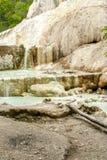 Mola da água térmica de Bagni san Filippo imagem de stock