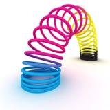 Mola de cores de CMYK ilustração stock