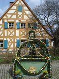 Mola decorada tradicional na Páscoa imagem de stock
