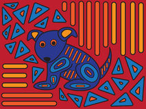 Mola Dog Design Stock Images