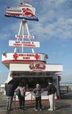 Mola 43 ½ dom Czerwona i Biała flota w przy rybaka nabrzeżem, San Fransisco Zdjęcie Royalty Free