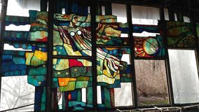 Mola em Pripyat: ` de Pripyat do ` do café imagem de stock