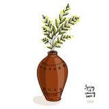 A mola está vindo logo Vaso com flores Fotografia de Stock