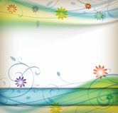 Mola floral ilustração royalty free