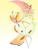 Mola - flores e borboletas - arte de Digitas Imagens de Stock