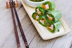 Mola fresca Rolls, estilo vietnamiano do alimento imagens de stock royalty free