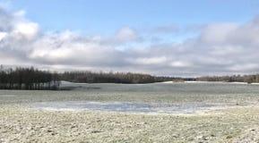 Mola fria em Letónia Em abril de 2017 Fotos de Stock Royalty Free