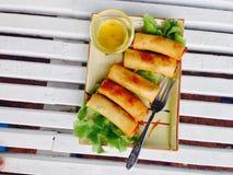 Mola fritada Rolls Fotografia de Stock