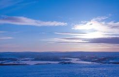 Mola na tundra Região polar Região de Murmansk Imagem de Stock