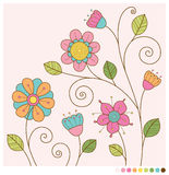 A mola pastel floresce o fundo Imagens de Stock Royalty Free