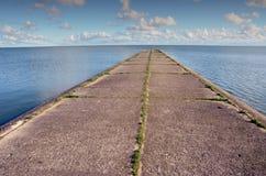mola podpalany perspektywiczny morze Obrazy Royalty Free