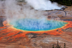 Mola Prismatic grande, parque nacional de Yellowstone imagens de stock