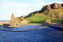 Mola quente de Jhaorih, ilha verde, Taiwan foto de stock royalty free