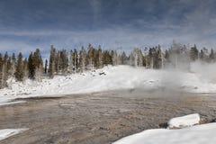 Mola quente, inverno, Yellowstone NP Fotos de Stock Royalty Free