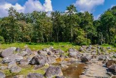Mola quente no parque nacional do chaeson, província de Lampang, Tailândia Imagens de Stock