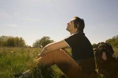A mola relaxa Foto de Stock