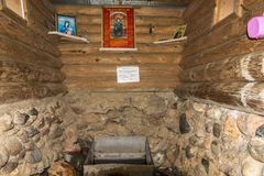 A mola santamente da monge Leonti Mikhailovsky, 05/03/2016 próximo Fotografia de Stock Royalty Free