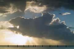 mola serii shorncliffe wschód słońca Obraz Royalty Free