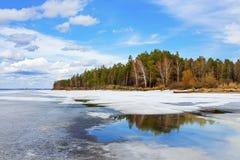 Mola Sibéria, rio Ob Fotografia de Stock Royalty Free