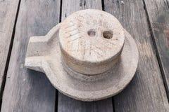 mola sul pavimento di legno Fotografia Stock