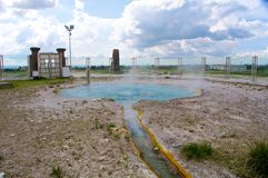 Mola térmica de Bullicame perto de Viterbo Itália Fotografia de Stock
