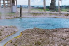 Mola térmica de Bullicame perto de Viterbo Itália Imagens de Stock Royalty Free