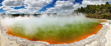 Mola térmica quente, Nova Zelândia Imagem de Stock
