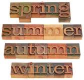 Mola, verão, outono e inverno Imagem de Stock