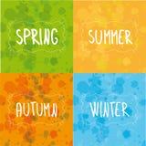 Mola, verão, outono, escrita do inverno Foto de Stock Royalty Free