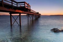 mola wschód słońca zima Obrazy Stock