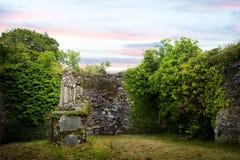 Molana Abbey at Ballynatray Estate Ireland stock photography