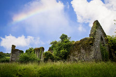 Molana Abbey at Ballynatray Estate Ireland. Ruins of Molana Abbey at the Ballynatray House Estate, Youghal, county Cork. Ireland Royalty Free Stock Image