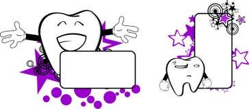 Molar dental cartoon copyspace3. Molar dental cartoon copyspace in vector format very easy to edit Royalty Free Stock Photos