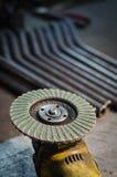 Molar- och metallrör med den selektiva fokusen Royaltyfria Foton
