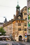 Molard Clock tower in Geneva city center Stock Photos