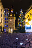 Molard square at night during Christmas season Stock Photos