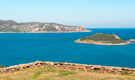 Molarotto and Isola Molara. Seen from a terrace Royalty Free Stock Photo