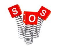 Molas com cubos do SOS ilustração royalty free